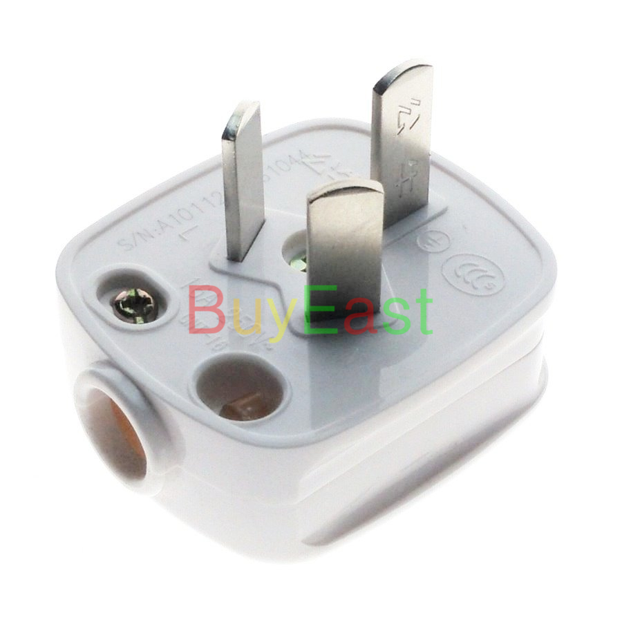 (1 PC) 16Amp China 3 Flat Pin Male Main Power Plug AC100~250V 16A (Work With Xiaomi Smart Companion)