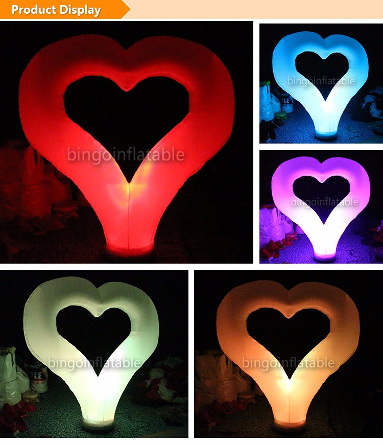 H2.4M BG-A0681 Heart-shaped light inflatable