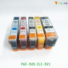 PGI-520 CLI-521 Ink Cartridge For Canon PGI520 CLI521 PIXMA MP540 MP550 MP560 MP620 MP630 MP640 IP3600 IP4600 IP4700 MX860 MX870 купить недорого в Москве