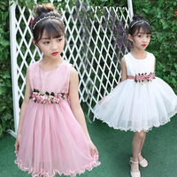 Girl Lace 2017 Summer New Pattern Korean Baby Thick And Disorderly Summer Wear Children Princess Dress