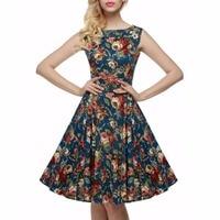 Belle Poque Womens Summer Dress 2017 Retro Vintage 50s Casual Party Robe Rockabilly Dresses Plus Size