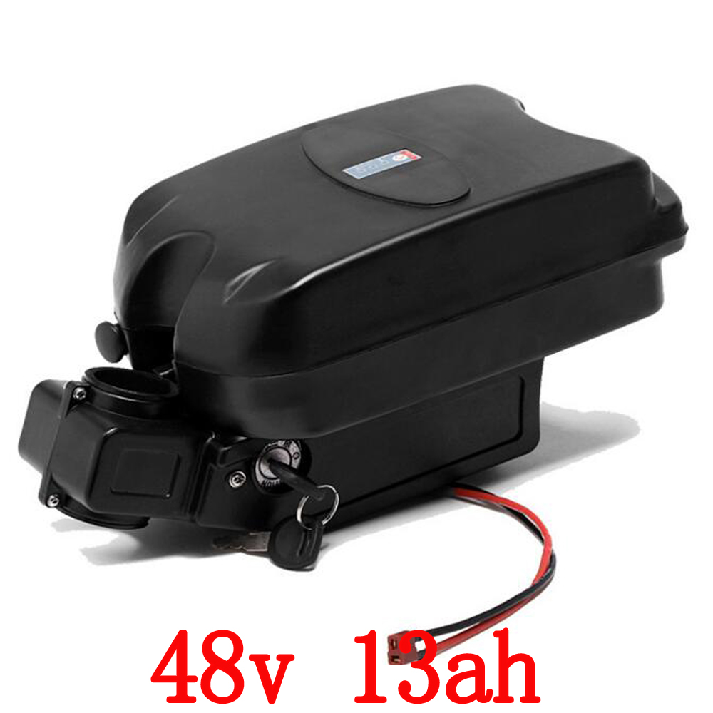48V 13AH 700W Lithium Battery for Electric Bike ebike Li-ion Battery with Case rechargeble battery,BMS and charger free shipping