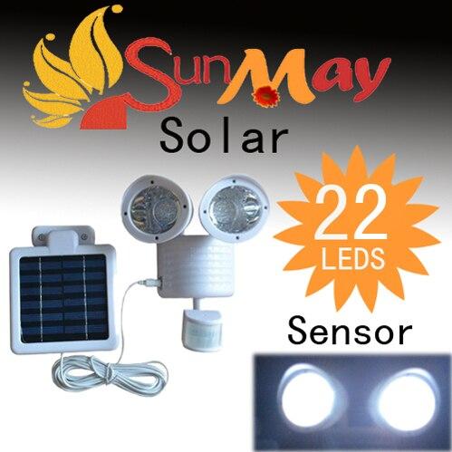 ФОТО Newest Waterproof IP44 Solar Powered Outdoor Lamp 22 LED Wall Light PIR Induction Motion Sensor Detector /Garden Home Lighting