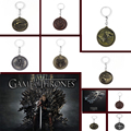 Game of Thrones Keychain House Stark Targaryen Red Dragon Keychain Direwolf Keyrings Lannister Lion Chaveiro,Llavero for Car