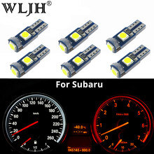 WLJH 6x Canbus T5 LED Lamp 73 74 3030 SMD Lamp Instrument Panel Verlichting voor Subaru BRZ Legacy Outback Tribeca forester Impreza(China)