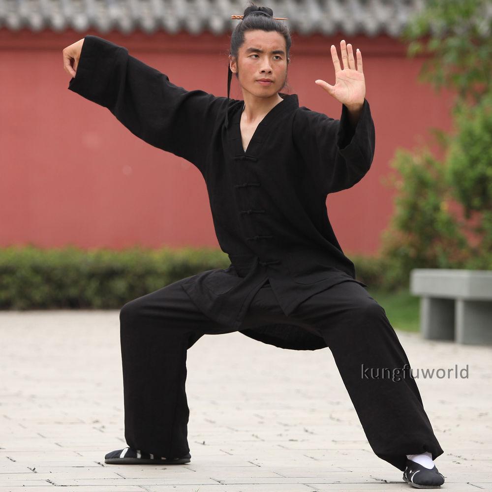 24 colores Lino Wudang Taoist Artes marciales Kung fu Traje Tai chi - Ropa deportiva y accesorios - foto 4