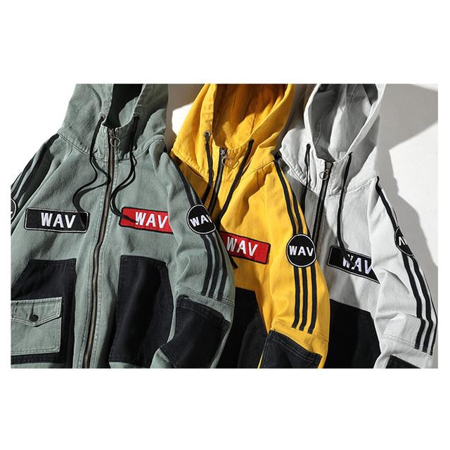 Men's Hip Hop Style Hooded Jacket