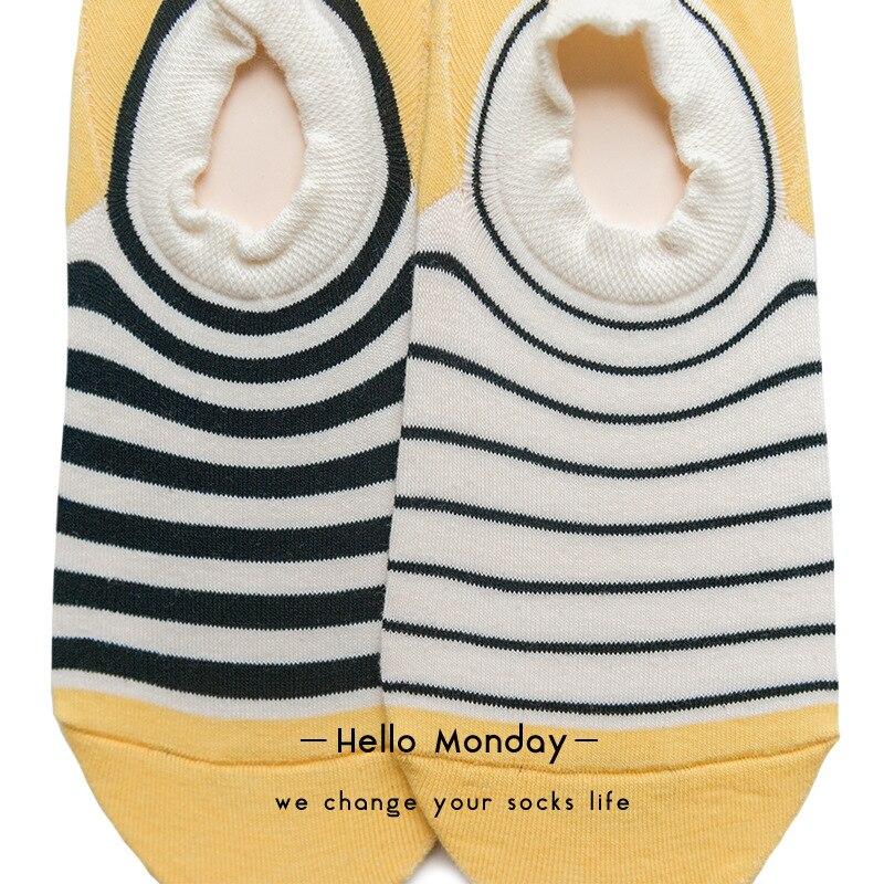 Unsiex Low Cut Ankle Sokken Klassieke strepen Trend Britse wind Onzichtbare Boot sokken Paar stijl