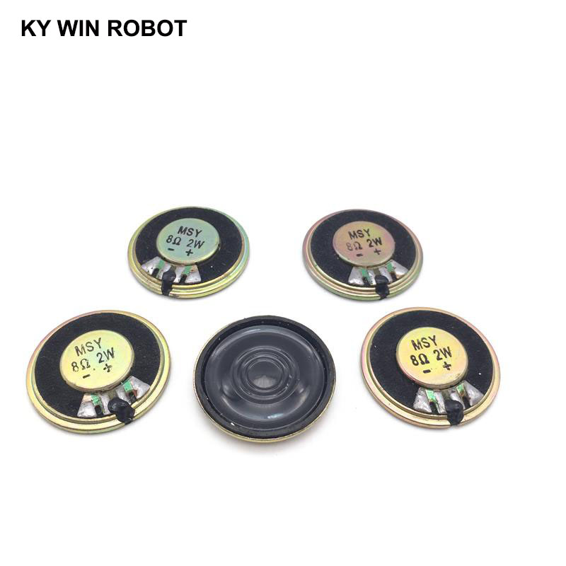 5pcs/lot New Ultra-thin Mini Speaker 8 Ohms 2 Watt 2W 8R Speaker Diameter 32MM 3.2CM Thickness 5MM