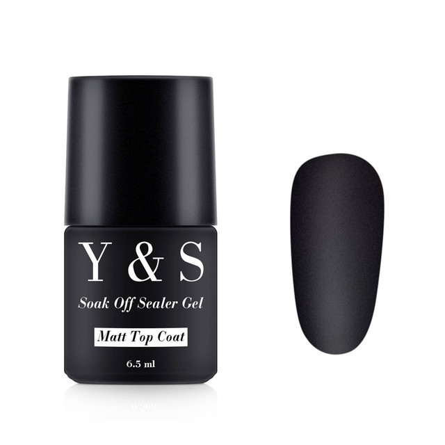 Y&S 5pcs Matt Top Coat Transfiguration Nail Art Frosted Surface Oil ...