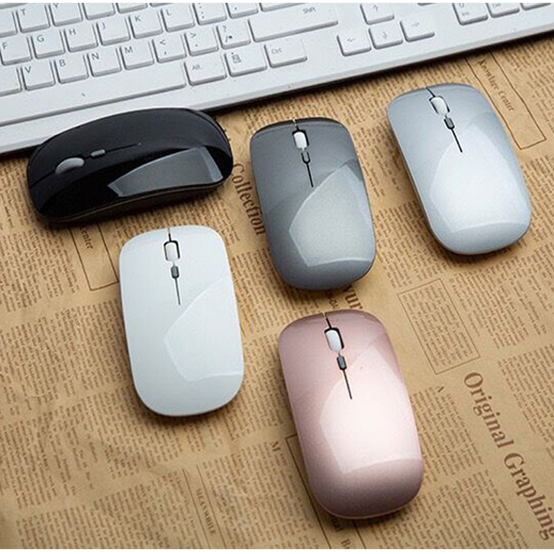 Cliry Rechargeable Optical Wireless Mouse Slient Button Ultra Thin Mini Optical Ultrathin USB 2.4G Mice For Computer Laptop PC