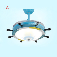 New 24W 220v 42SW 0004 Rudder Cartoon Child Ceiling Fan Bedroom Variable Light Variable Frequency Ceiling Fan + Remote Control
