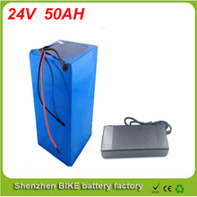Great performance 24v 1200W Electric bike battery scooter 24V 50AH Li-ion Battery with Case,BMS and Charger For Samsung cell