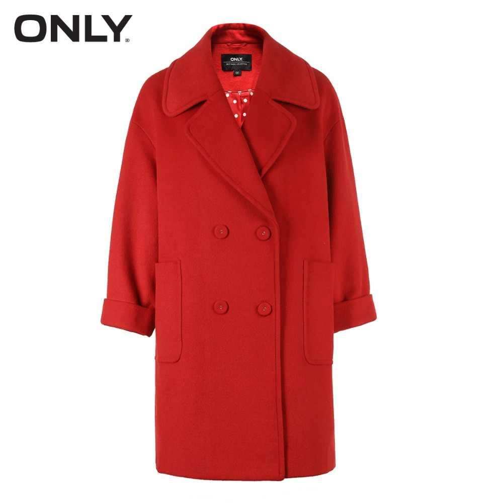 NUR und weise frauen winter neue lange abschnitt mit wolle zweireiher woolen mantel Einfache und vielseitige Zweireiher | 11836T512