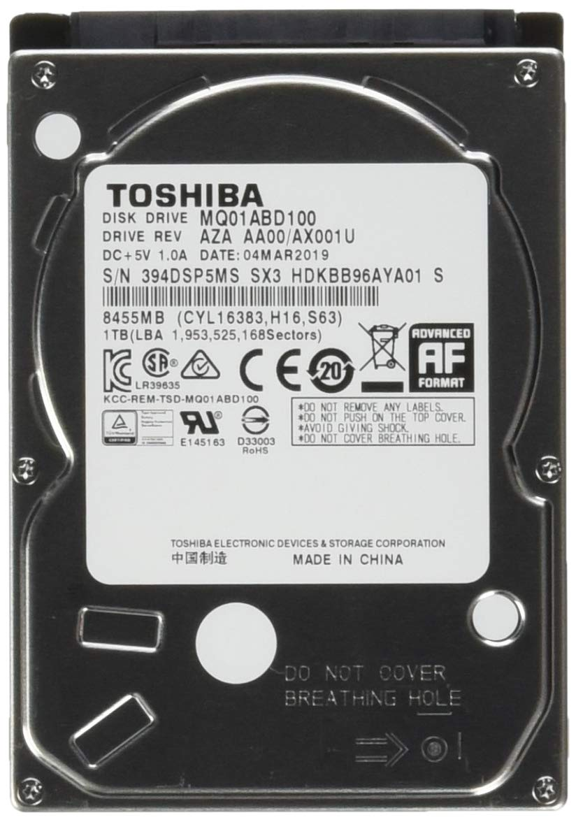 Toshiba 1TB 5400RPM 8MB Cache SATA 3.0Gb//s 2.5 inch Notebook Hard Drive 1 Year Warranty MQ01ABD100V