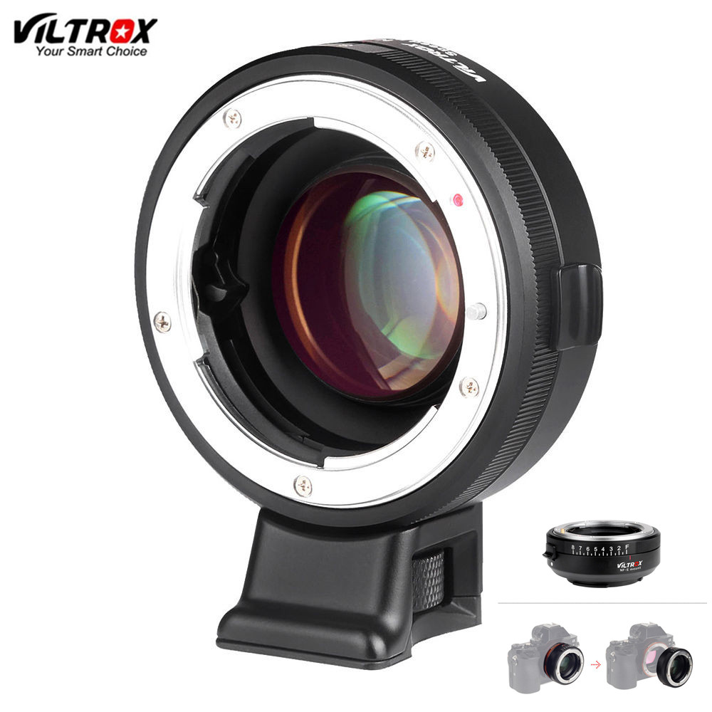 цена на Original VILTROX NF-E Manual-focus F Mount Lens Adapter Telecompressor Focal Reducer Speed Booster for Sony NEX E-mount Camera