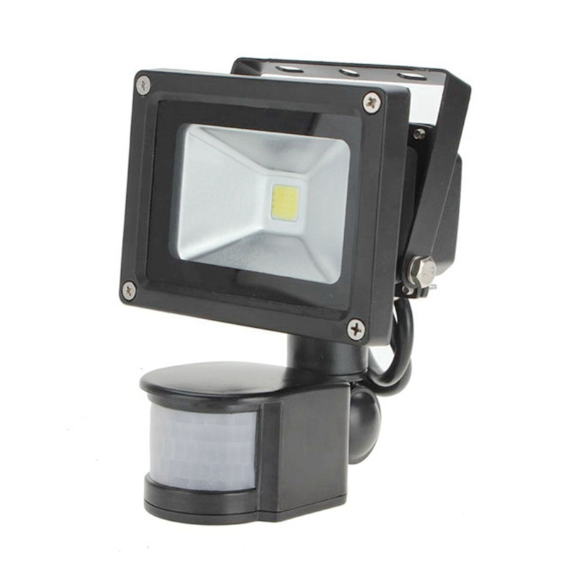 Promotion 4PCS/lot PIR 10W LED flood light  waterproof spotlight garage security Motion Sensor Time Lux adjustable AC85V-240V in ultrathin led flood light 200w ac85 265v waterproof ip65 floodlight spotlight outdoor lighting free shipping