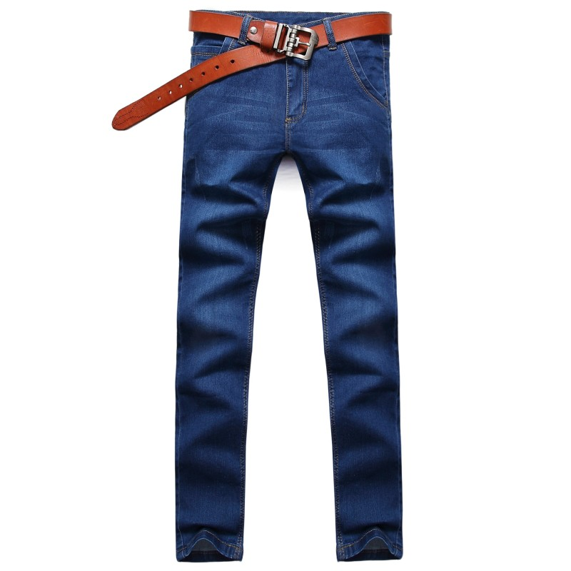 Hot Classic Blue Men Jeans Stretch Mid Waist Mens Denim Pants Fashion Autumn Slim Fit Male Trousers Korean Skinny Jeans Man 2017 autumn new fashion pencil mens skinny jeans trousers stretch jean homme mid waist denim pants men casual jeans hommes