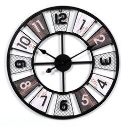 Reloj de pared de Metal de gran tamaño, relojes de arte del hierro Retro estilo europeo de diseño moderno para sala de estar, Relojes de pared para decoración del hogar de 60 CM