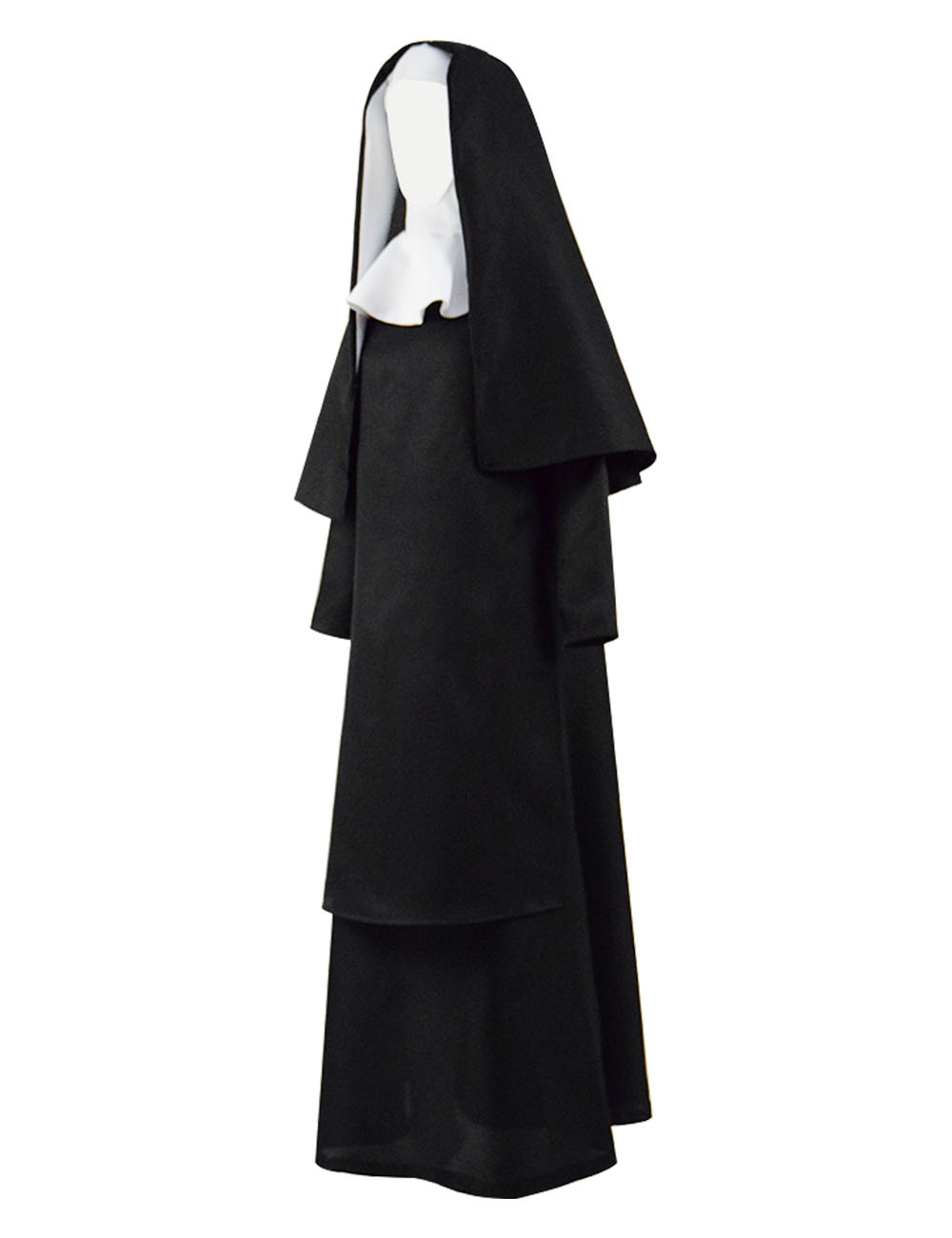 Nun Cosplay Costume Sister Irene Cosplay Nun Uniform Women Halloween Party Horror Full Set in Movie TV costumes from Novelty Special Use