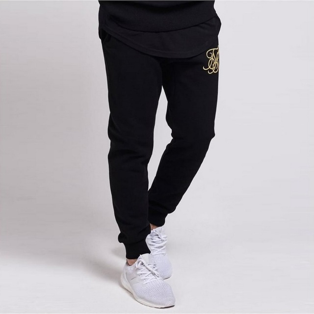 New Gyms tracksuit men pants Sets Fashion Sweatshirt sweat suits brand Sik Silk embroidery casual fitness Outwear jogger set 2