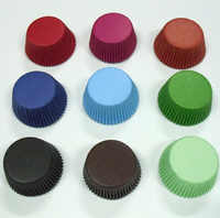 Free drop Shipping 1000X Navy Blue/Black/White/Red/brown/light green/yellow solid color Paper Cupcake Liners Pure Color Cup cake