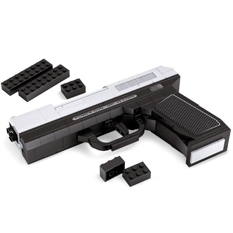 268 шт. DIY nerfs Elite пистолет MP45 пистолет игрушечный пистолет модели Building Block ...