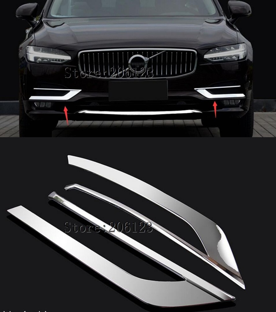 ABS font b CAR b font REAR WING TRUNK LIP SPOILER FOR VOLVO S90 S90L 2017