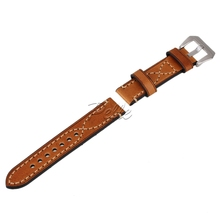 Pelle Brown 20mm 22mm 24mm Luxury Retro PU Leather Wristwatch Bands Belt Mens Watch Strap