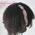 2016 Otoño Best Venta U parte peluca Brasileña Virginal del pelo Afro rizado Bob Corto U pelucas parte de cabello Humano para african los estadounidenses