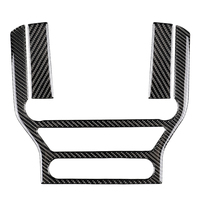 NEW Carbon Fiber Central Control Air Conditioning Cd Panel Cover Trim Sticker Fit For Ford Mustang 2015 2017