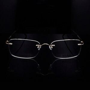 Image 2 - Titanium Eye Glasses Frame for Men  Frameless Rimless Glasses Optical Frame Eyeglasses Women High Quality Square Spectacles
