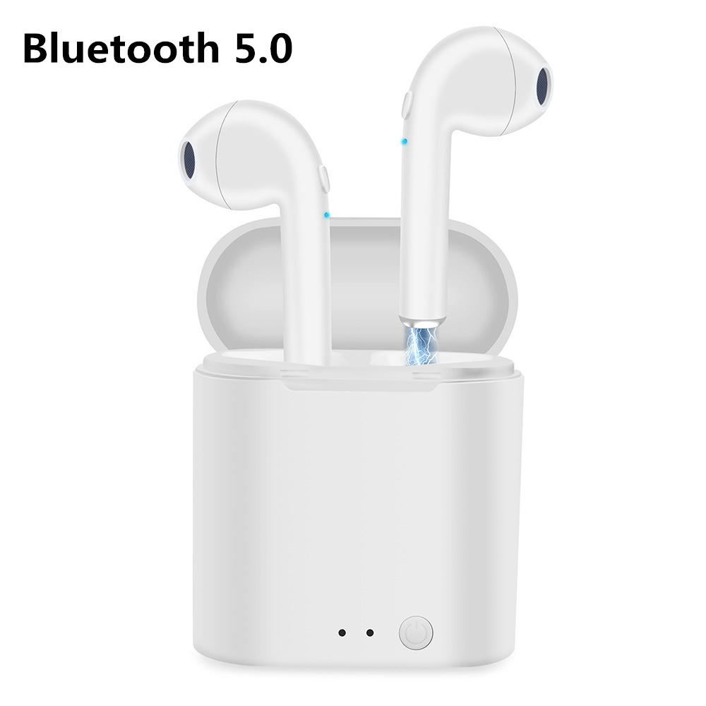 Cool Wireless Bluetooth 5 0 Earphones I7 i7s TWS Earbuds Headset With Mic For Samsung S9