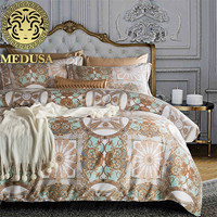 Medusa 400TC Egyptian cotton golden palace luxury bed linen set king queen size