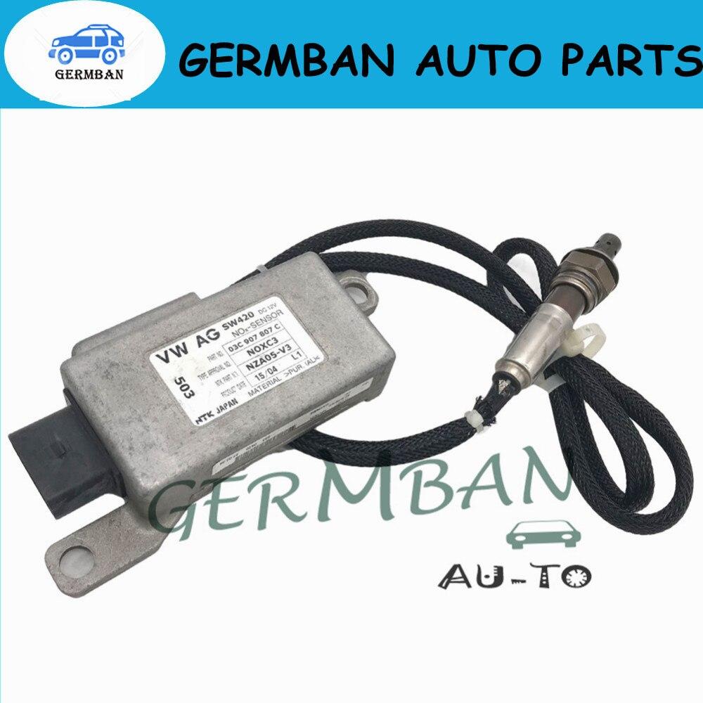 Новый изготовлены выхлопных газов NOX датчик для VW VOLKSWAGEN GOLF TOURAN AUDI A3 8 P 1,6 FSi без # 03C907807D 03C907807C (NOXC3) NZA05-V4