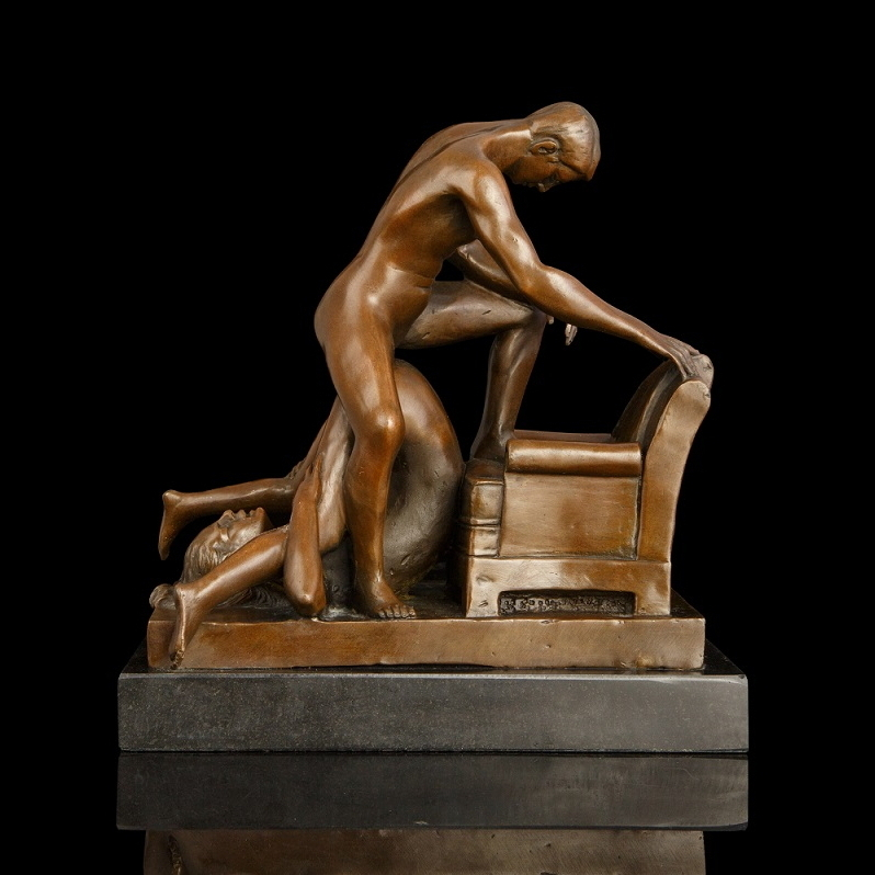 ATLIE BRONZES New Erotic Make Love Bronze Figurines Nude Woman  Man Sculptures Sexual Love Lust Desire Girl Hotel Decor