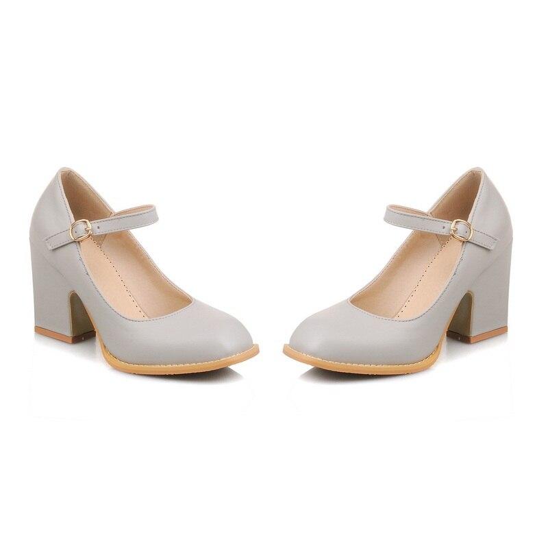 Femme Noir Peu Morazora Unique Pompes 48 gris Talons Femmes Solide Grande Contracté 34 blanc Chaussures 2018 Profonde Haute Taille Bout Boucle Carré rose rCHqxX5H