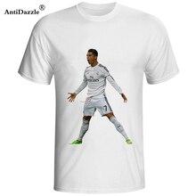 Antideslumbrante Frete Grátis mens moda camisas t 2017 Cristiano Ronaldo  portugal  7 CR7 camisa dos homens t de algodão de manga. fea1ed8ad7b00