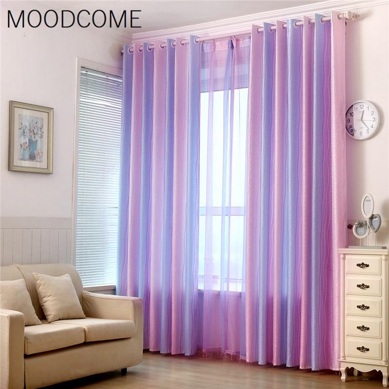 Magische Farbe Vorhänge Für Schlafzimmer Hohe Farbverlauf Jacquard - Haustextilien