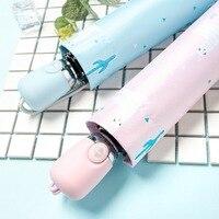 JESSEKAMM Alpaca Candy Fully Automatic Rain Umbrellas For Women Ladies Blue Pink Anti-UV UPF45+ Fashion Hot Sale Strong Frame
