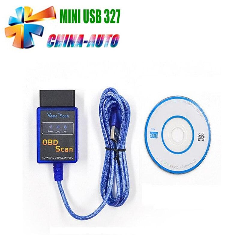 CHINA LKC TECH Store 2016 New USB Mini ELM327 V1.5 Auto Scanner Car Diagnostic Scanner interface OBD elm 327 scan tool