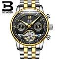 Schweiz BINGER herren uhr luxus marke Tourbillon mehrere funktionen wasserdicht Mechanische Armbanduhren B-8603M-9