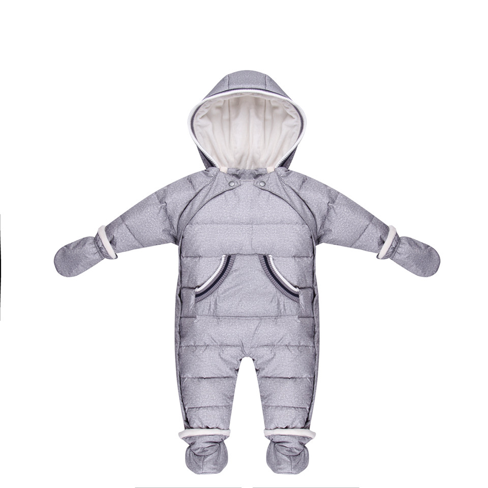 Duck Down Newborn Baby winter Jumpsuit Russian Natural Fur girl Romper Boy Clothes Infant kids Snowsuit children Ski suit 2017 denim romper newborn baby boy girl summer sleeveless pocket clothes toddler kids jumpsuit sunsuit children clothing outfits
