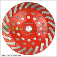 180mm Diamond Grinding Cup Wheel For Construction Material 7 Inch Grinding Disc Segmented Turbo Type