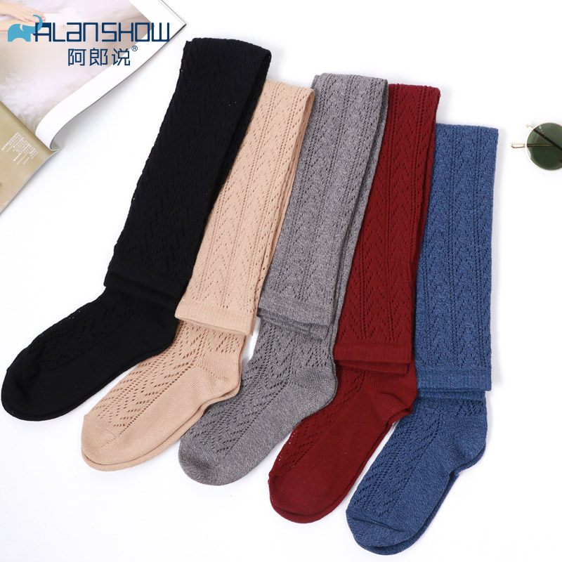 Girls Cute Thigh High Long Socks Plus Size Women Sexy Socks Cotton Kawaii Woman Socks Over Knee Alanshow