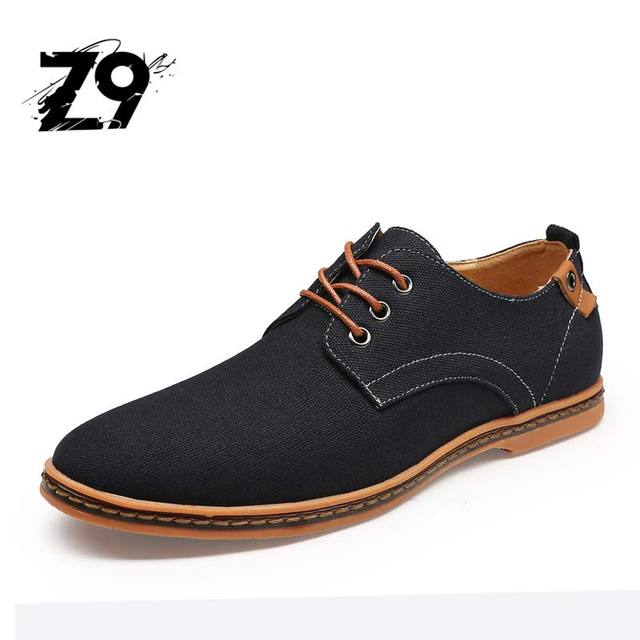 2016 new hot sale Men Casual Shoes canvas men Flats Oxford Jeans comfort  classic Shoes Big