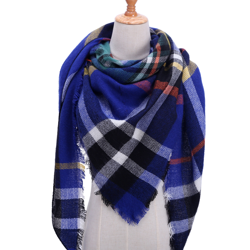 Бандана палантин платок на шею шарф зимний Дизайнер трикотажные весна-зима женщины шарф плед теплые кашемировые шарфы платки люксовый бренд шеи бандана пашмина леди обернуть - Цвет: b8