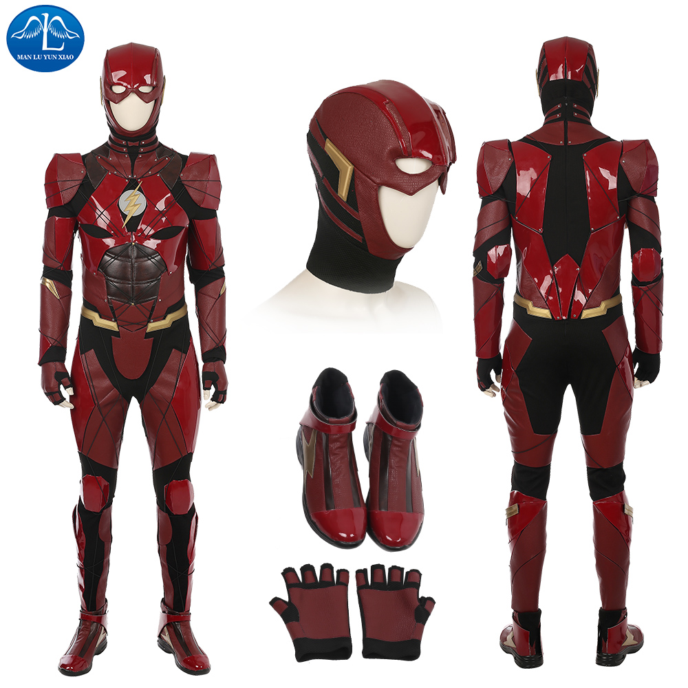 Fancy Adults Magical <font><b>The</b></font> <font><b>Flash</b></font> <font><b>Cosplay</b></font> Costumes Spandex Zentai Bodysuits Jumpsuits Boys Men <font><b>The</b></font> <font><b>Flash</b></font> Halloween Costumes image