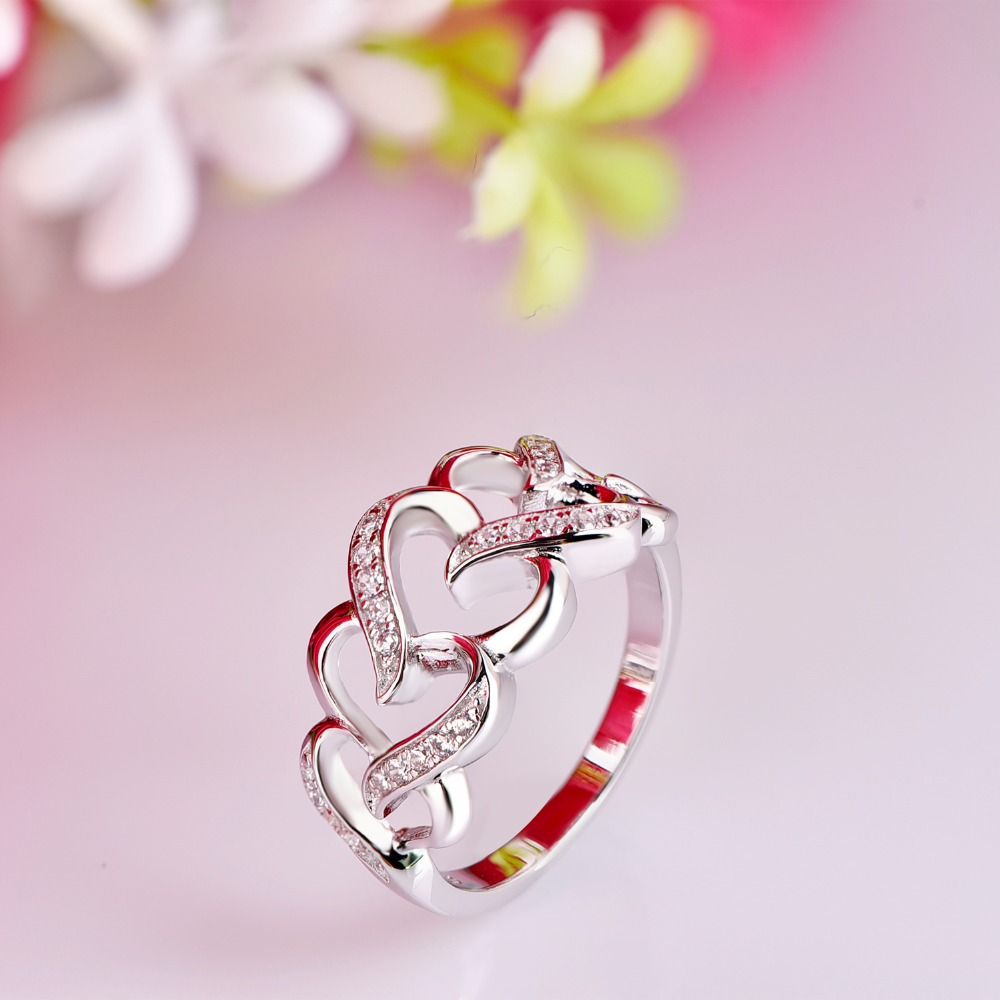 heart diamond gold free set sapphire real wedding natural rings size itm bridal pink synthetic claddagh with ring white