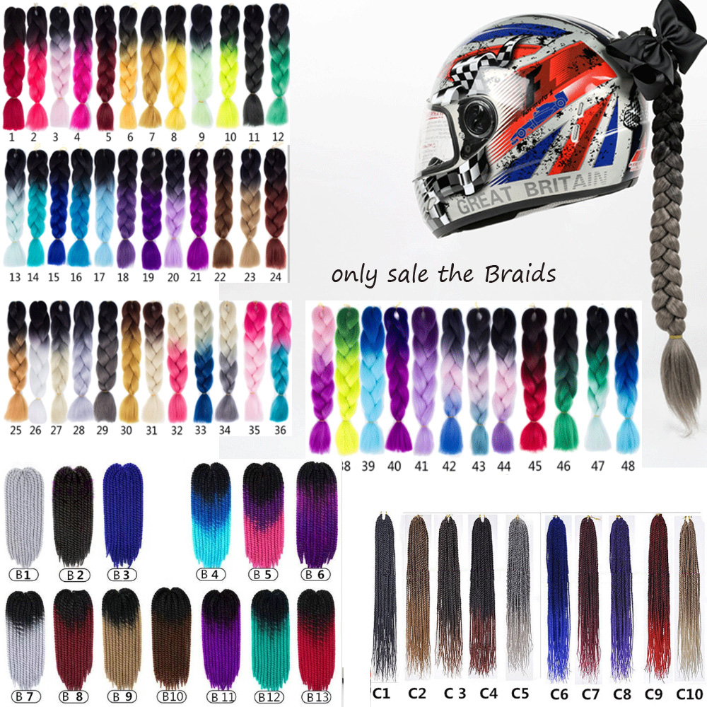 Knight Unisex FreeStyle Motorcycle Helmet Dreadlocks Decoration Punk Dirty Braid Motocross Racing Removable for All Rider